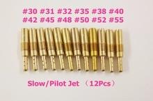 New 12pcs Set Slow/Pilot Jet for PWK Keihin OKO CVK 30,31,32,35,38,40,42,45,48,50,52,55