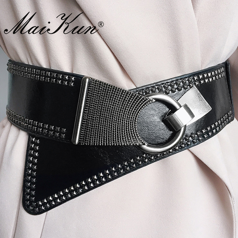 Maikun Fashion Punk Rocker Wide Belts voor dames Elastic Wide - Kledingaccessoires - Foto 5