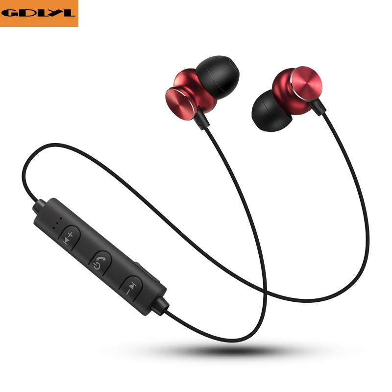 GDLYL Bluetooth Wireless Headphone Sport Running Stereo Magnet Earbuds With Microphone Earphone Headset For Mobile Phone