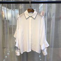 S01288 Модные женские блузки и рубашки для мальчиков 2019 взлетно посадочной полосы Элитный бренд Европейский дизайн вечерние стиль