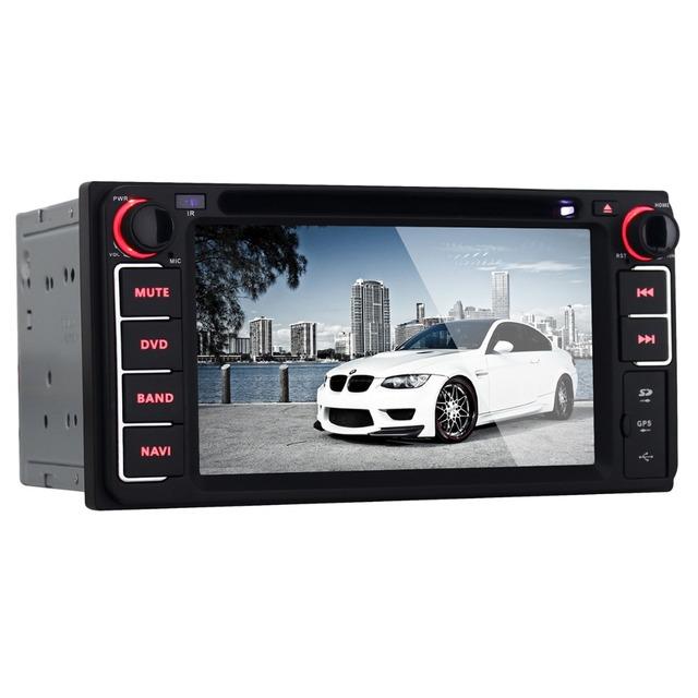 Top Venda 6.2 polegada tela de Toque 2 Din Android 4.4 carro Vídeo DVD MP3 Player GPS de Navegação com Wi-fi Bluetooth para Toyota