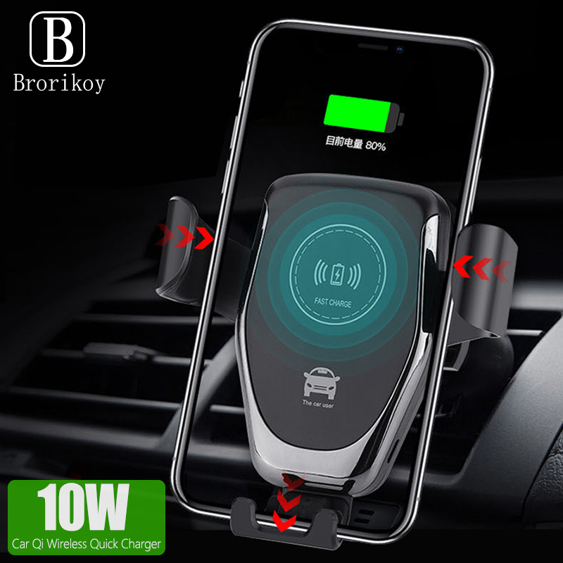 Mate Phone Qi-Car Huawei Wireless-Charger Fast-Automatic Samsuang 10W For X Huawei/Mate/20-pro/..