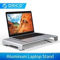 ORICO Aluminum Alloy Laptop Monitor Stand Bracket Steady Monitor PC Stand with Storage for iMac MacBook Computer Laptop Gadgets