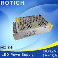 1Pcs 100% Original Real Power 12W 24W 36W 60W 120W AC 100V 110V 127V 220V 230V TO DC 12V Led Strip Power Supply DC led driver