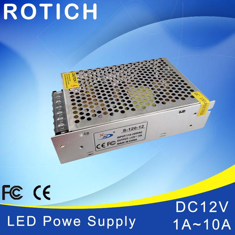 1Pcs 100% Original Real <font><b>Power</b></font> 12W 24W 36W 60W 120W AC 100V <font><b>110V</b></font> 127V 220V 230V TO DC <font><b>12V</b></font> Led Strip <font><b>Power</b></font> <font><b>Supply</b></font> DC led driver image