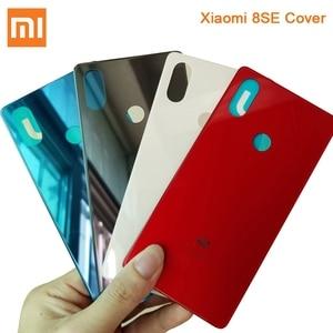 Image 2 - Original Glass Battery Rear Case For Xiaomi 8 MI8 M8 8SE Back Battery Cover Phone Battery Backshell Back Cover Cases