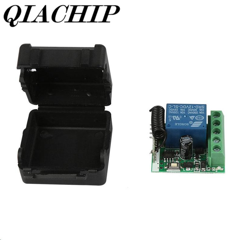200PCS DC 12V 1CH 433MHz Universal Wireless Remote Control Switch RF Relay Receiver 433 MHz Transmitter Button Module Diy Kit