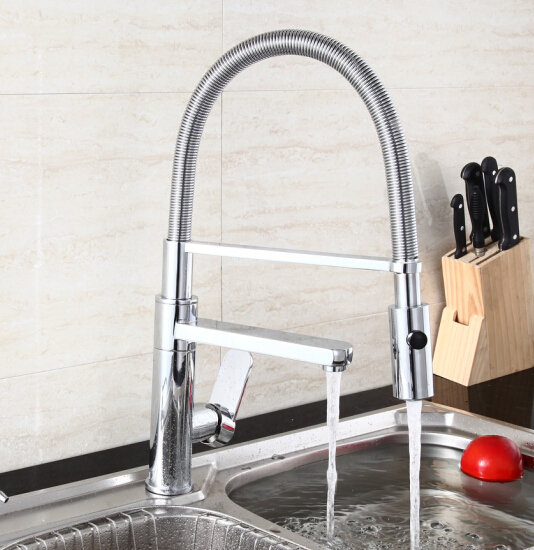 ФОТО 2015 pull out kitchen mixer Led color kitchen sink tap modern kitchen faucets torneiras cozinha kitchen sink taps