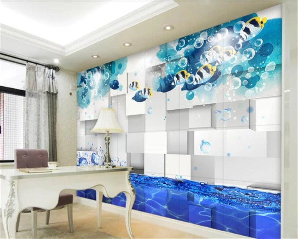 Beibehang Home Interiorwallpaper Family Decoration Tropical Fish
