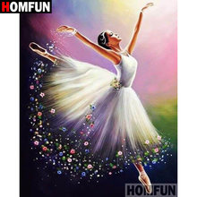 Homfun quadrado completo/broca redonda 5d diy pintura diamante