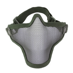 Yarım alt yüz Metal çelik ağ örgü avcılık taktik koruyucu Airsoft maskesi Gofuly
