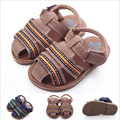2016 Nueva Moda Guapo Verano Newborn Infant Toddler Baby Boy Kid Primeros Caminante Cuna Suave Con Suela de Goma Al Aire Libre Zapatos 0-1 año