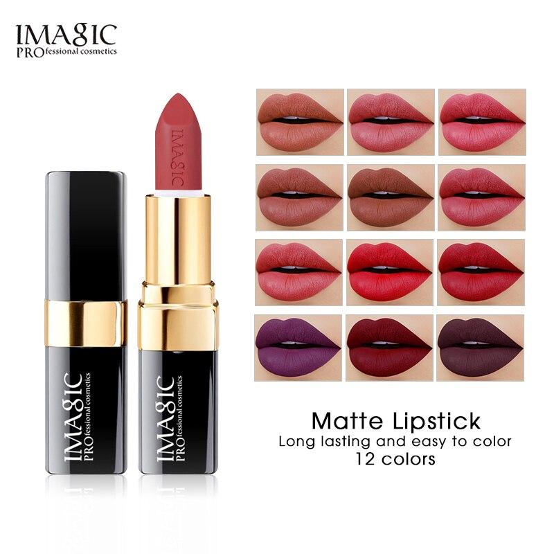 Imagic batom hidratante lábios suave lábio vara longa duração encantador batom cosméticos beleza maquiagem 12 cores