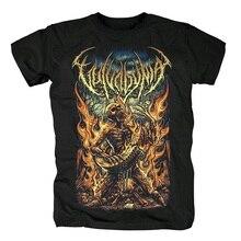 13 disegni Cool Fire Skull Vulvodynia Camiseta Roccia camicia di Marca Hardrock Ropa Mujer heavy Metal Punk di skateboard streetwear