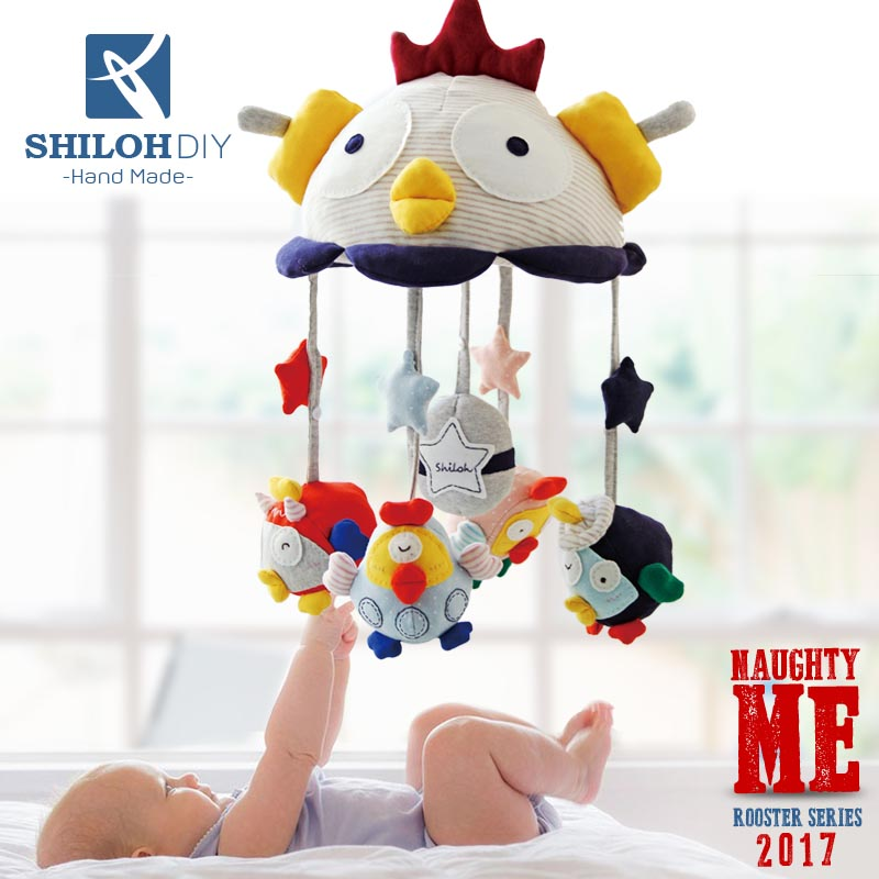 SHILOH DIY Baby Musical mobile Crib toy Plush Doll Rattle Crib rail Hanging 2017 Rooster Crib Toy Mama Hand Made (Unfinished) купить