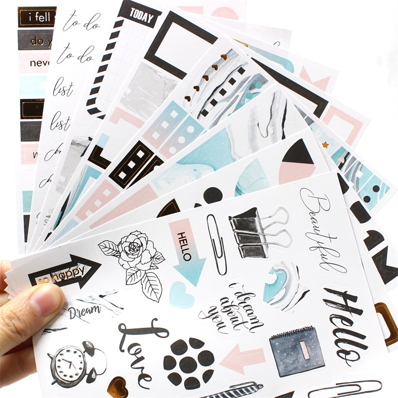 ZFPARTY 8pcs Phrase Stickers for DIY Scrapbooking/photo album Decoration Card Making CraftsZFPARTY 8pcs Phrase Stickers for DIY Scrapbooking/photo album Decoration Card Making Crafts
