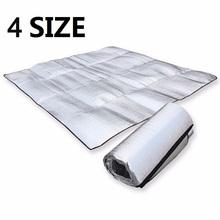 Wodoodporna folia aluminiowa EVA Camping Mat składany składany śpiwór piknik materac plażowy wycieraczka zewnętrzna Pad 3 rozmiar 100 ~ 200X200cm tanie tanio CN (pochodzenie) Piknik grill Wodoodporna pianka