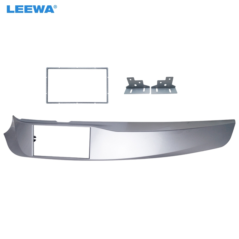LEEWA Car 2DIN Stereo Radio Fascia Plate Panel Frame for Alfa Romeo Giulietta(940) Left Wheel CD/DVD Radio Panel Dash Mount Kit 11 405 car radio dash cd panel for kia skoda citigo volkswagen up seat mii stereo fascia dash cd trim installation kit