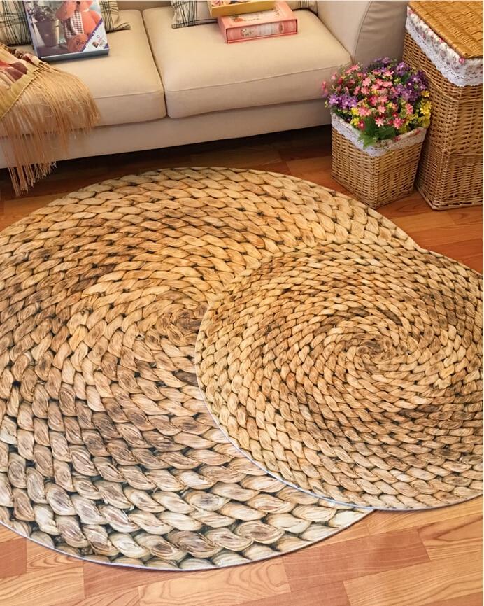 Druck Runde Teppich 3D Matte Bauernhaus Stil Moderne Minimalistischen  Wohnzimmer Schlafzimmer Runde Kaffee Tisch Drehstuhl Teppich