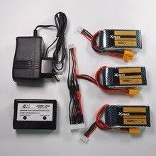 3 pcs Xpower LiPo Batterie 11.1 V 1500 Mah 3 S 40C MAX 60C XT60/T Plug et chargeur Pour RC Voiture Avion WLtoys V950 hélicoptère