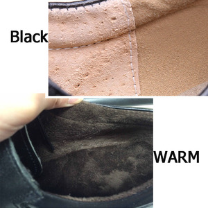 Image 2 - メンズ靴大サイズカジュアル英国の本革男性靴役員牛leatrher靴男性冬暖かい毛皮豪華な黒