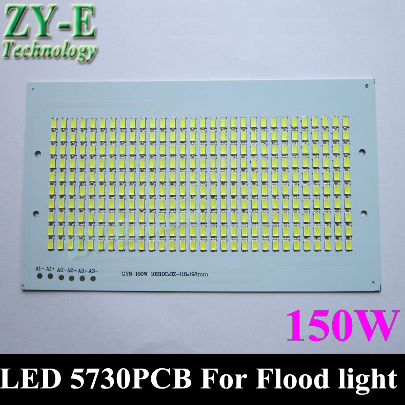 10pc 150w Flood Light PCB 5730 SMD LED Chips plate resource Floodlight white color outdoor landscape advertising Lamp free ship