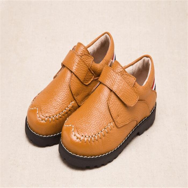 Boy leather shoes Childrens shoes 2017 autumn new boys peas student performance casual s ...