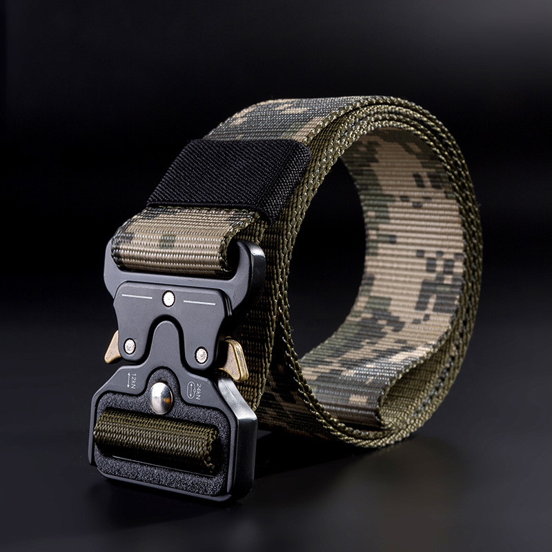 Military Equipment Combat Tactical Belts for Men US Army Training Nylon Metal Buckle Waist Belt Outdoor Hunting Waistband