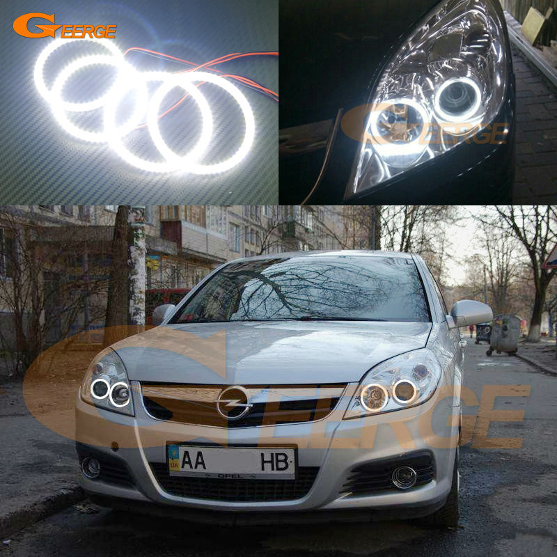 For Opel Vectra C 2005 2006 2007 2008 Excellent Angel Eyes Ultra bright illumination smd led Angel Eyes Halo Ring kit