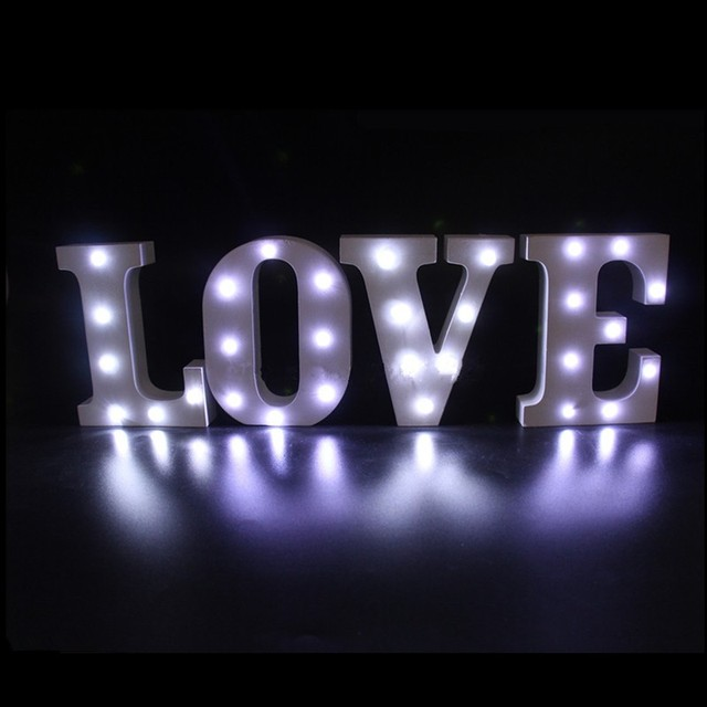 new arrivals white wooden led lighted marquee letters sign alphabet christmas lights indoor wall deceration wood - Lighted Marquee Letters