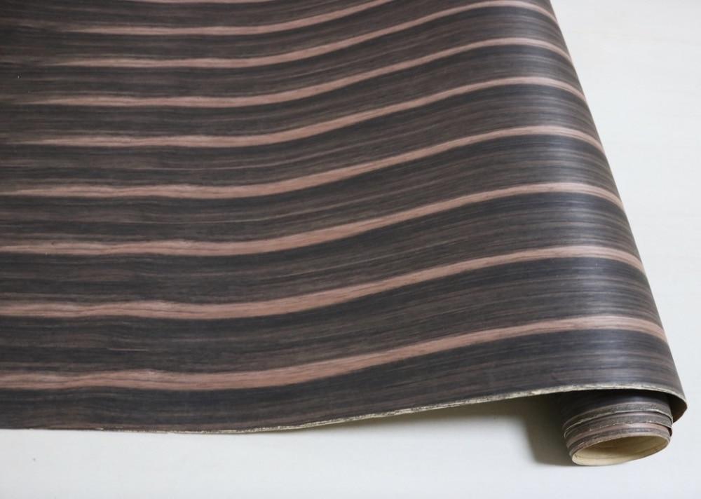 L:2.5Meters   Wide:60CM  Ebony Veneer Handmade Leather Wood Veneer Speakers(With kraft paper)