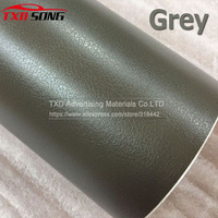 High quality Grey Leather Grain Vinyl Leather Pattern Vinyl Sticker film Internal Decoration Size:1.52*30m/Roll by free shipping