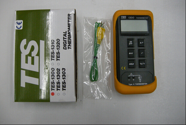 Fast arrival  TES-1300 Single Input digital thermometer  k-type probe -50 to 1300Celsius; -50 to 1999Fahrenhite single input k type thermocouple thermometer industrial thermometer temperature reader sensor 50 to 1300 tes 1300