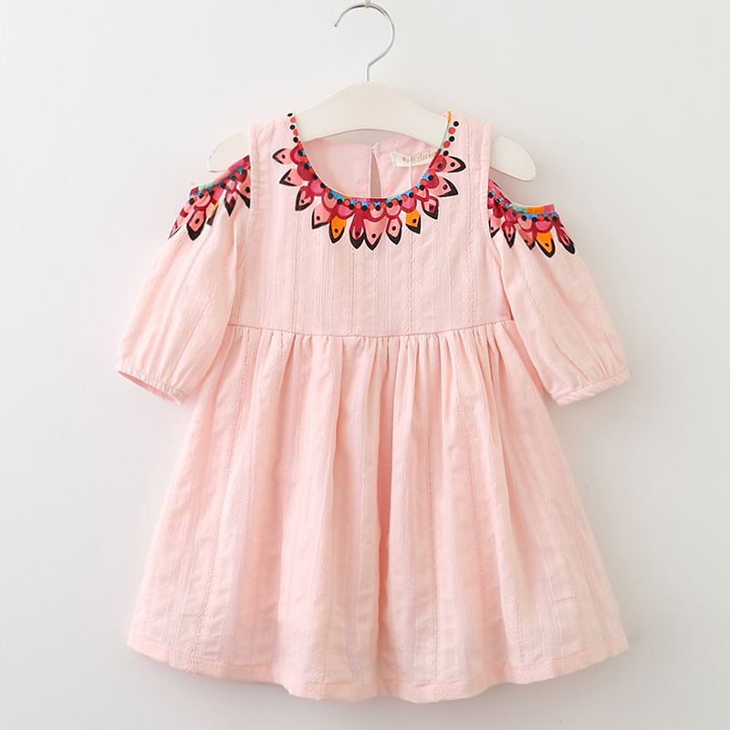 Menoea Girls Dress 2017 New Summer Style Kids Lace Dresses Fashion Style Appliques Design for Baby Girls Dress Children Clothing
