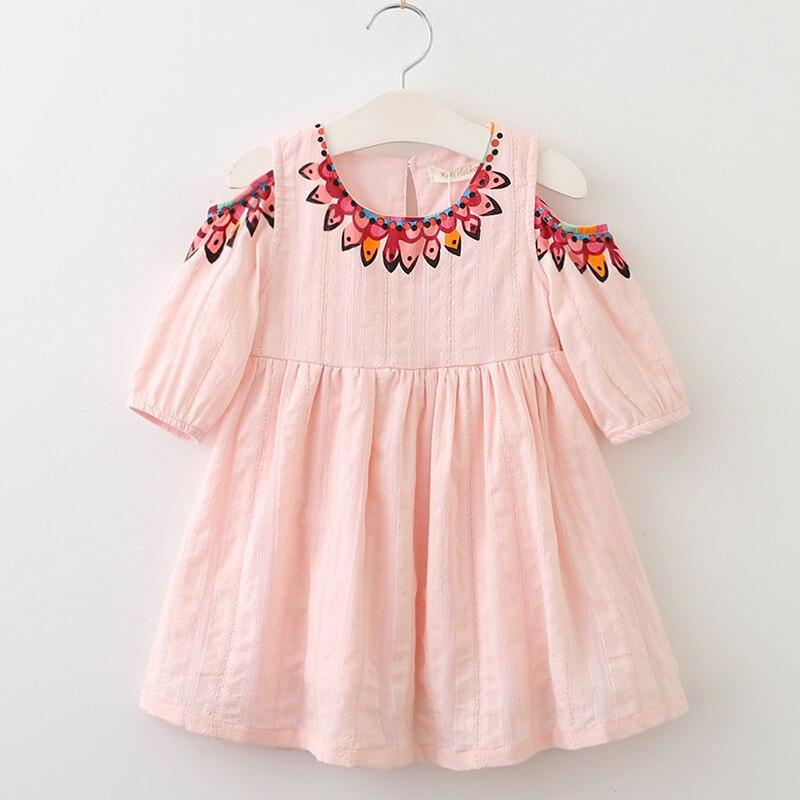 89b484154f3 Menoea Girls Dress 2019 Summer Style Kids Lace Dresses Fashion Style  Appliques Design Baby Dress Children