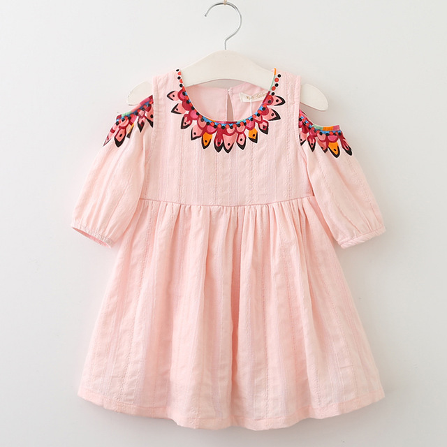 20c1d2c9fef Menoea Girls Dress 2019 Summer Style Kids Lace Dresses Fashion Style  Appliques Design Baby Dress Children