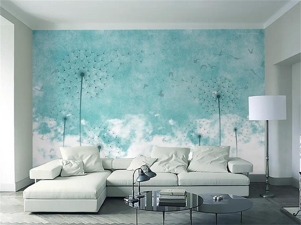 3d wallpaper photo wallpaper custom mural living room blue dandelion bird 3d painting sofa TV background wallpaper for wall 3d large mural living room bedroom sofa tv background 3d wallpaper 3d wallpaper wall painting romantic cherry