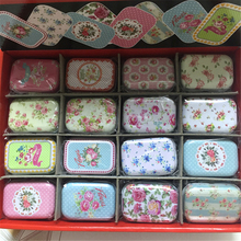 32 Piece/lot Vintage Cartoon Tin Box 5.5*4*2.5cm Candy Pill Chutty Mini Storage House Decoration Collectables Display