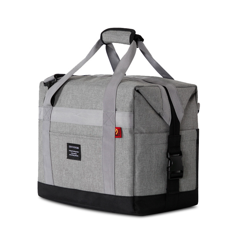 Oxford Cloth 37*22*28cm Large Ice Cooler Bags Insulated Pack Drink Food Thermal Leisure Handbag shoulder Picnic Pouch Lunch bag 2 layers family cooler bags thermal iced drink lunch box picnic food storage shoulder handbag pouch accessories supplies product