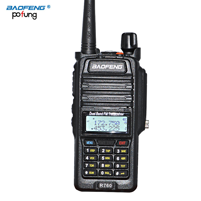NEW Baofeng BF-R760 walkie talkie waterdichte draagbare CB-radio LCD-scherm Dual Frequency beroep Walkie Talkie CB-radio