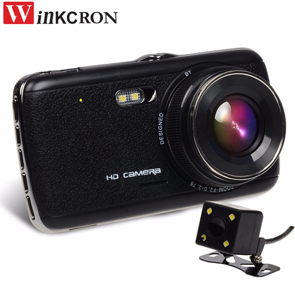 4 IPS Видеорегистраторы для автомобилей Камера FHD 1080 P DVR Камера заднего вида Двойной Камера двойной записанных данных автомобиля Путешествия...