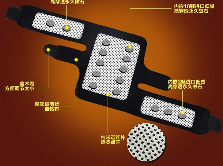 50 Paare/paket Turmalin gürtel selbsterhitzung kniepolster Magnetfeldtherapie kniebandage turmalin heizung Gürtel Massage knie - 2