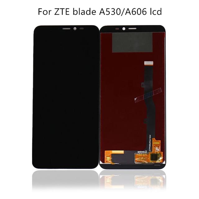 100% נבדק 5.45 חדש שחור עבור ZTE בינוני להב A530 A606 LCD + מסך מגע digitizer החלפת אביזרים