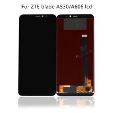 100% テスト 5.45 新黒 zte 中翼 A530 A606 液晶 + タッチスクリーンデジタイザ交換アクセサリー