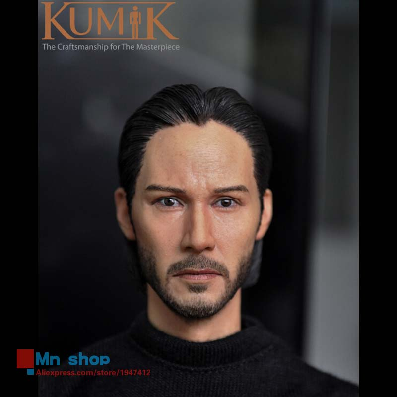 1/6 Head Sculpt Male Figure Head Keanu Reeves John Wick Doll Lifelike Fit 12 Action Figure Collection Toys Gift KUMIK15-5 1 6 head sculpt male figure doll guardians of the galaxy star lord head carving 1 6 action figure acccessories juguete toys gift