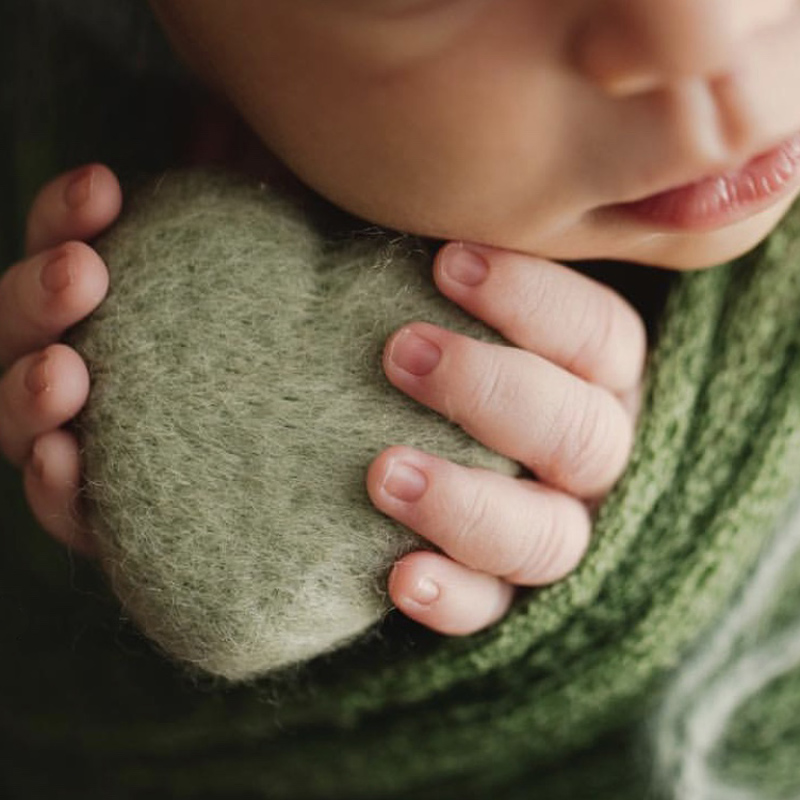 3pcs Photography Props Felt Ball Handmade Multi-functional Baby Heart Shape Woolen Diy Decoration Real Life Plush