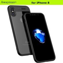 Awaynuo Ultra Thin 0.3mm Soft TPU Gel Transparent Case For Apple iPhone 8 Luxury Slim Clear Back Cover Full Edge Production Case