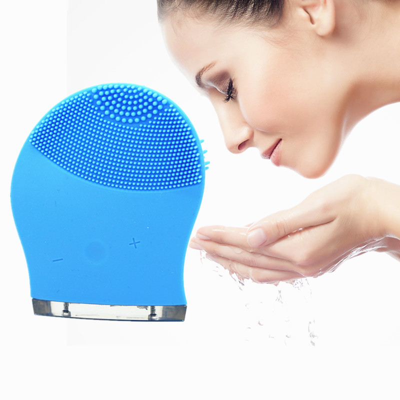 2017 Popular selling mini spa super sonic cleanser facial rechargeable electric face deep cleaning machine deep face cleansing brush facial cleanser 2 speeds electric face wash machine