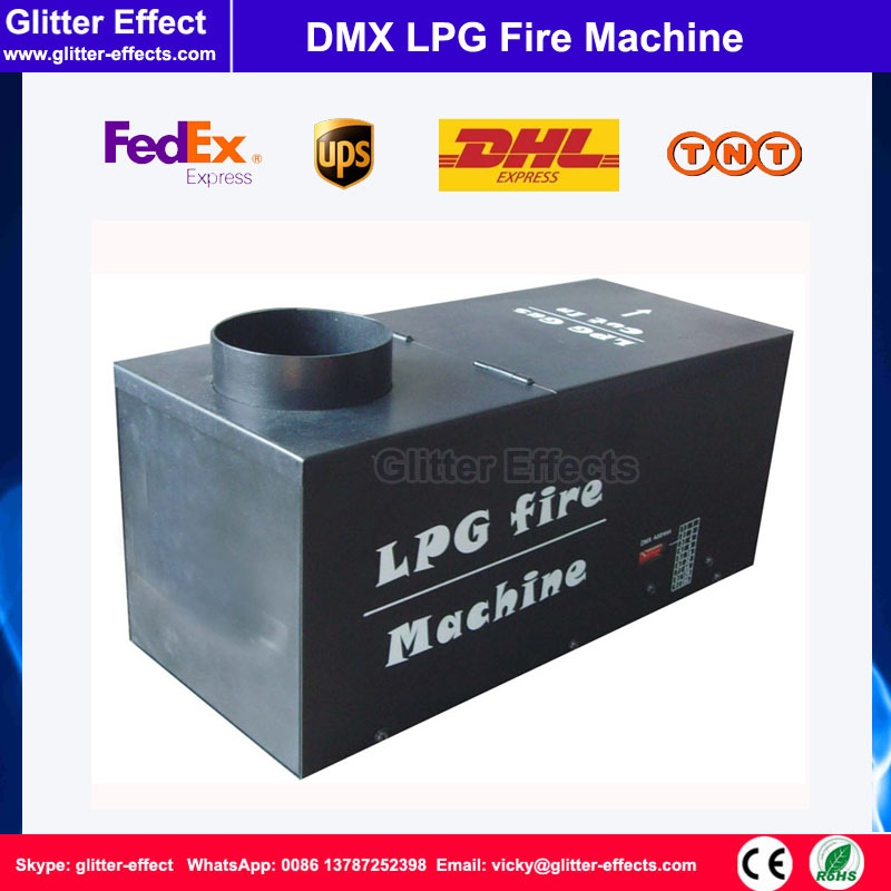 DMX 512 Rectangle shpae LPG flame projector Stage performance show Special Effect spray fire machine for nigh club dmx lpg fire machines controller for flame machine dmx outdoor events for party ktv stage performance special effects