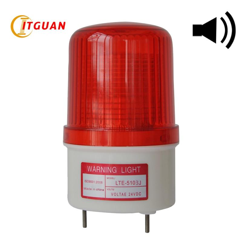 lte 5103j led piscando luz estroboscopica sirene industrial de alta qualidade de som luz de alarme
